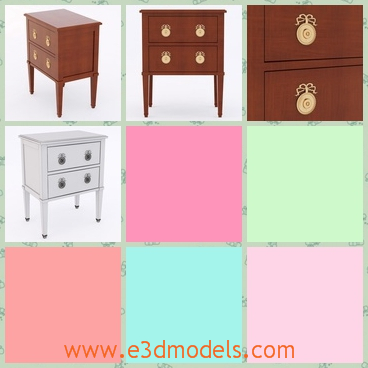 3d model the chest with fine ornaments - This is a 3d model of the chest with fine ornaments,which are made of wood materials.The model is fashionale in Asian countries.
