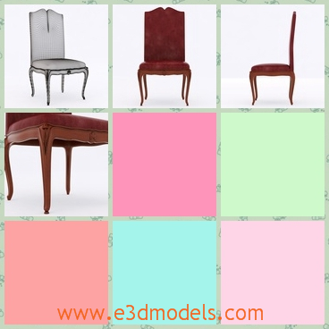 3d model the classical chair with a long back - This is a 3d model of the classical chair with a long back,which is heavy to carry and the style is antique and special.