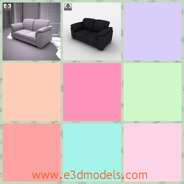 3d model the couch in white - This is a 3d model of the couch in white and the model is large to sit on.The model is popular in the world.