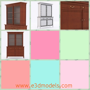 3d model the cupboard as a furniture - This is a 3d model of the cupboard,which is painted and made of wood.The wood is coming from the selva and it is so precious.