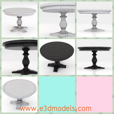 3d model the dining table with a fine holder - This is a 3d model of the dining table with a fine holder,which is not so tall but stable.The table is a piece of furniture in the living room.