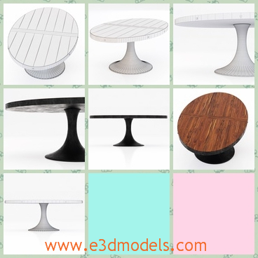 3d model the dining table with oval shape - This is a 3d model of the dining table,which is a oval shape.The model is low and is very suitable in the room.
