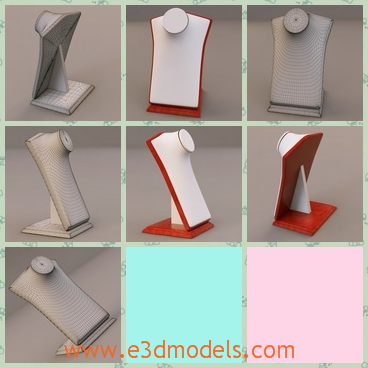 3d model the display stand for jewelry share and for Jewelry stand 3d model