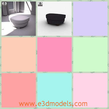 3d model the footstool - This is a 3d model of the footstool,which is short and comfortable.The model is designed with a storage.There are other imformation about the model,such as the width,the height and the color.