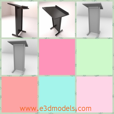 3d model the lectern in the classroom - This is a 3d model of the lectern in the classroom,which is a stand for teachers.The model is common in the school.