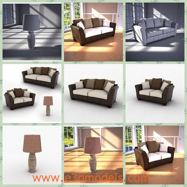 3d model the living room with modern sofa - This is a 3d model of the living room with modern sofa,which is suitable for the decoration of the home.
