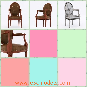 3d model the medaillon armchair with a classical b - This is a 3d model of the medaillon chair,which is created according to the ancient style.