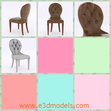 3d model the modern chair with leather materials - This is a 3d model of the modern chair with leather materials,which is common in the family nowadays.