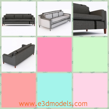 3d model the modern couch - This is a 3d model of the modern couch,which can also be called the sofa.The furniture is made in the most modern way.