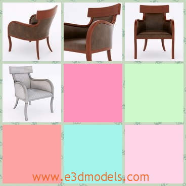 3d model the modern type of the classic chair - This is a 3d model of the modern type of the classic chari ,which is special and outstanding.