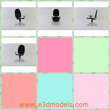 3d model the office chair with the swivel legs - This is a 3d model of the office chair with the swivel legs,which are common because so many chairs can be moved or spined nowadays.
