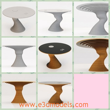 3d model the round table with a special holder - This is a 3d model of the round table with a special holder,which is made of hardware and in the modern style.