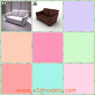 3d model the seat sofa in the living room - This is a 3d model of the seat sofa in the living room,which is tilted with the back.The model is common in the house.