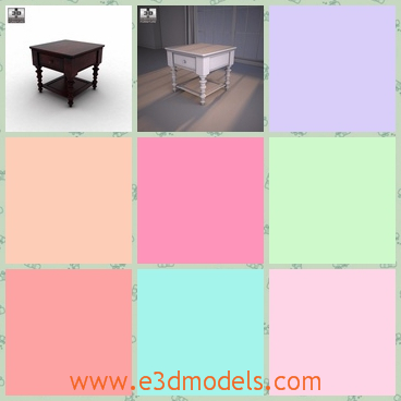 3d model the side table with fine legs - This is a 3d model of the side table with fien legs,which is made in ancient style.The model is presented in the towns.