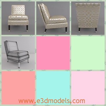 3d model the slipper chair - This is a 3d model of the slipper chair,which is the ornament in the living room and the cover of the chair is smooth and fine.