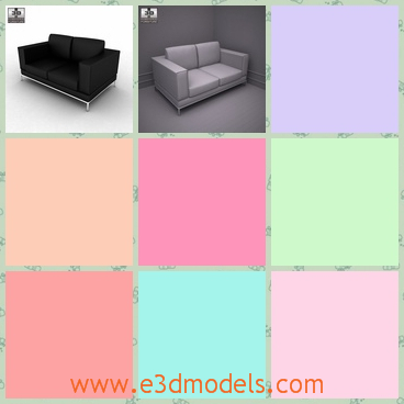 3d model the sofa with the soft surface - This is a 3d model of the sofa with the soft surface,which is the new model of the brand.The model is suitable for the office.