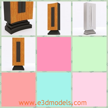 3d model the special bookcase - This is a 3d model of the special bookcase,which is tall and glorious and the body is colored in yellow.