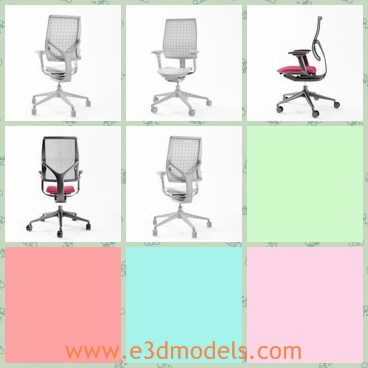 3d model the swivel chair - This is a 3d model of the swivel chair,which is convenient and popular in life.The chair has a long back.