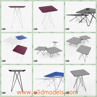 3d model the table in different shapes - This is a 3d model of the table in different shapes,which are all modern and common in our life.The tables are made in high quality.