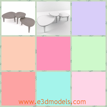 3d model the table in wood - This is a 3d model of table in wood,which is made in different shapes and the body of the table is stable and special compared to others.