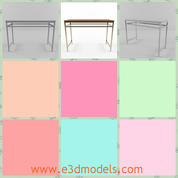 3d model the table with long legs - This is a 3d model of the table with long legs,which is thin and long.The surface of the table is thin, too.