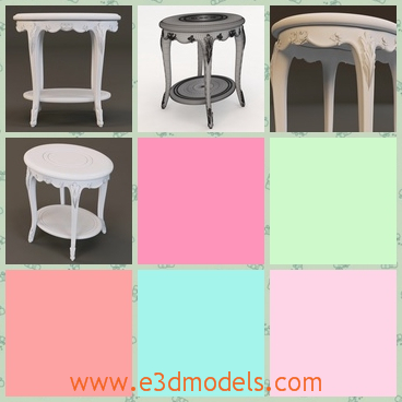 3d model the with side table - This is a 3d model of the side table,which has a fine surface and the lower part is also special compared to others.