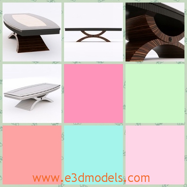 3d model the wooden table with special legs - This is a 3d model of the wooden tabke with special legs and the table is long and heavy.It is not easy to move.