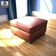 3d model footstool with storage