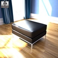 3d model the black footstool