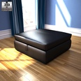 3d model the footstool in black