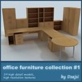 3d model the office furniture
