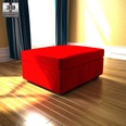 3d model the red footstool