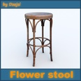 3d model the stool chair