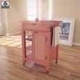 3d model the wooden kitchen cart