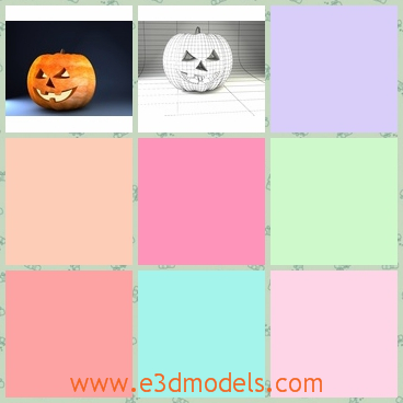 3d model a halloween pumpkin as a lantern - This is a 3d model about a lantern made of pumpkin in the Halloween in the European countries.The kindle is placed into the pumpkin.The shape is various from each other.