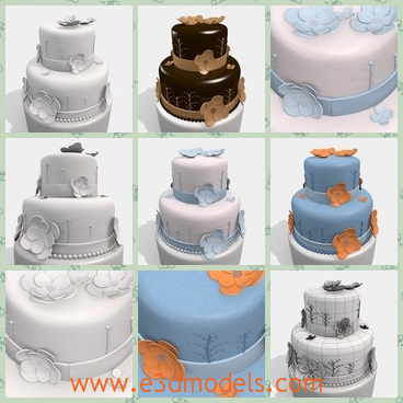 3d model the cake with decorations share and download 3d for 3d printer cake decoration