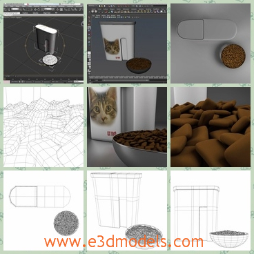 3d model the car food - This is a 3d model of the car food,which is for the pet animals.The model is was designed to provide a high definition in a low poly.