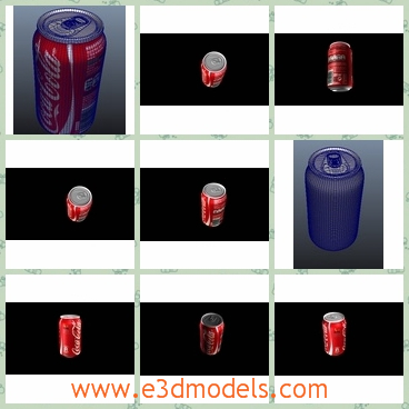 3d model the coke can - THis is a 3d model of the Coke can,which is the pop drink nowadays.The can is made of aluninum materials.