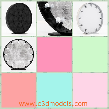 3d model the hardware starlet mirror - This is a 3d model of the starlet mirror,which is round and made in modern style.The mirror has a frame.