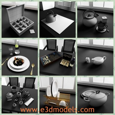 3d model the items in kitchen - Share and Download 3D Models