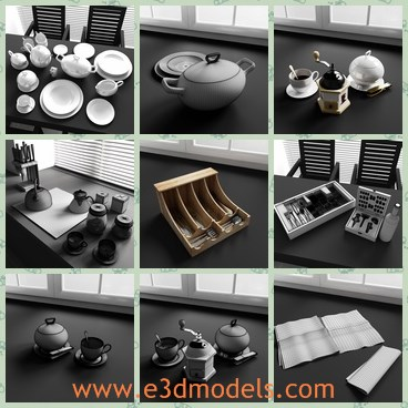 3d model the kitchen items - Share and Download 3D Models at