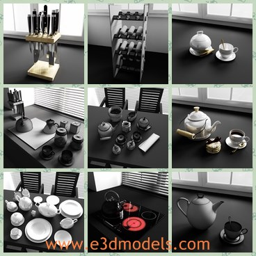 3d model the new items in the kitchen - Share and Download