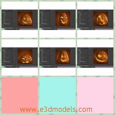 3d model the pumpkins in Halloween - This is a 3d model of the pumpkins in the Halloween's festival and the holiday is great in the western countries.