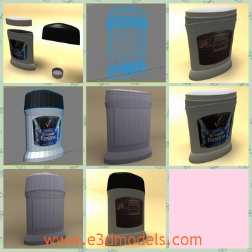 3d model the the box with deodorant function - This is a 3d model of the box with deodorant function,which is compatible for the games, animations and other specifications.- Model created and rendered with 3ds Max 2010.