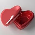 3d model of a heart-shaped box