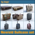 3d model suitcase made in wood