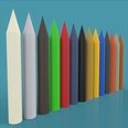 3d model the colorful crayons