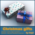 3d model the gift boxes