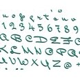 3d model the Italian letters