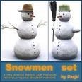3d model the snowman
